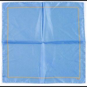 Faberge Blue & Orange Silk Scarf